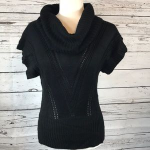 Candie's- Black kimono sleeve, cowl sweater S
